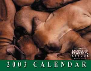 2003 Ridgeback-a-Day Calendar