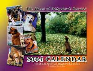 2004 Ridgeback-a-Day Calendar