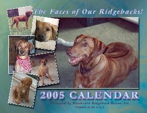 2005 Ridgeback-a-Day Calendar